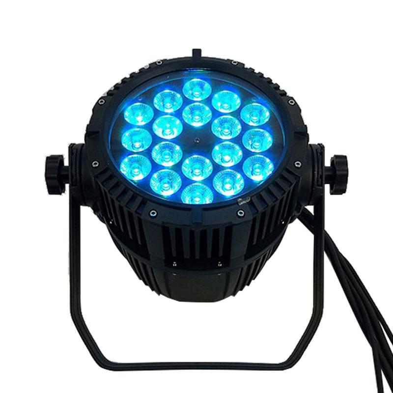 Top Seller Waterproof LED Par 18x18W RGBWA+UV DMX512 Outdoor IP65 LED DMX Stage Lighting Effect Master-Slave Luces Discoteca