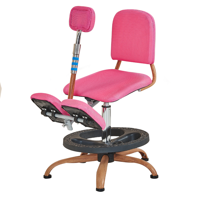 Kids Corrective Posture Chair Lifted Student Study Seat Wooden Household Children Multifunction Stool Non-rotatable Kids Chair