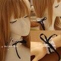 Princesa dulce lolita hairbands encaje hechos a mano femenina japonés tocado de pelo anillo DIY del mitón gargantilla GSH020