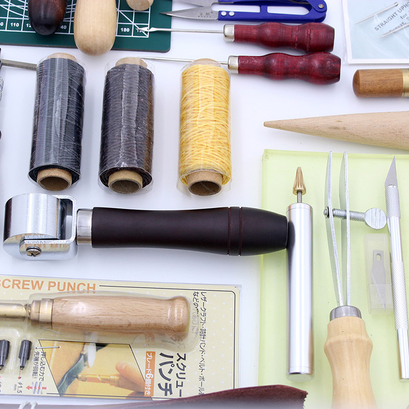 Leather Craft 37pc/lot Hand Working Set