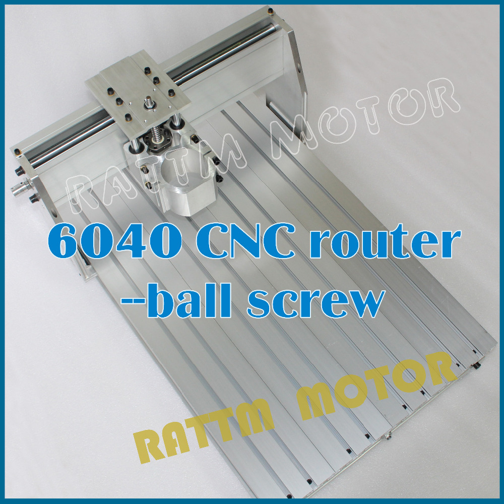6040 CNC Router Engraver Engraving Milling Machine Mechanical frame Kit ball Screw 80mm Aluminum Clamp for DIY user eur free tax cnc 6040z frame of engraving and milling machine for diy cnc router