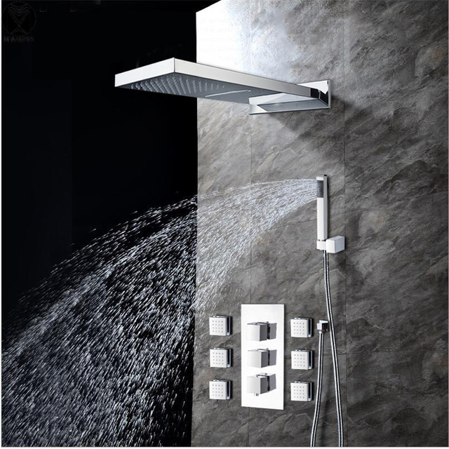 Bathroom Shower Head With 6 Spout And hand shower ,2 Kinds Of ...