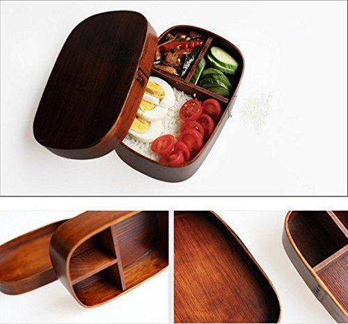 Wood Lunch Box Handmade Natural Wooden Sushi Box Tableware Bowl|wooden lunch box|sushi wooden bowl|bento box wood - title=