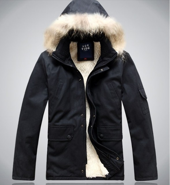 Envío gratis 2016 Hombre abrigo de invierno chaqueta de algodón acolchado cálido agregar código del aumento del fertilizante abrigo