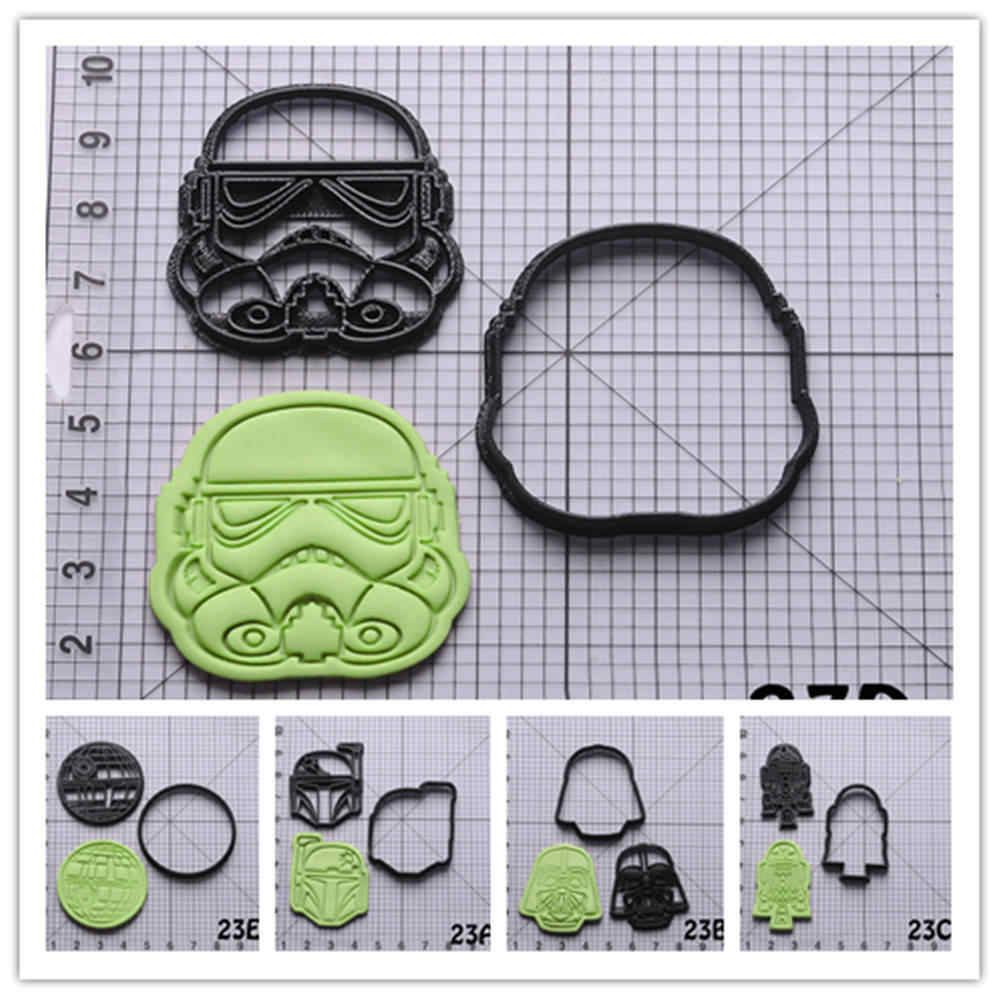 Star War Series Cookie Cutter Set Custom Made 3D Printed Cake Decorating Cutter Kitchen Accessories Star Wars Cookie Cutter
