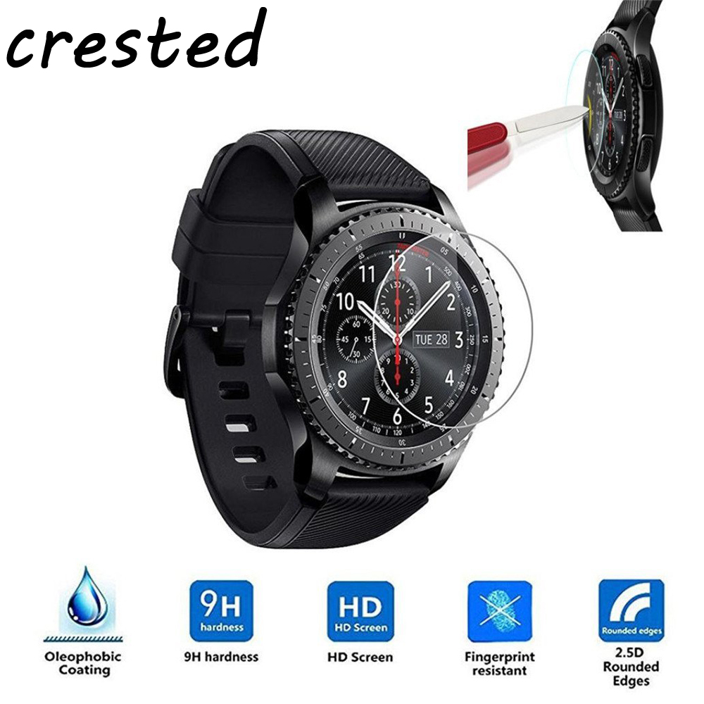 Tempered Glass watch film For 22/20mm Samsung Gear S3/S2 Classic/Frontier smartwatch 9H 2.5D Explosion-proof Protective Film watch protector film for samsung gear s3 frontier classic s2 protector screen 9h 2 5d tempered glass for samsung gear s 3 2