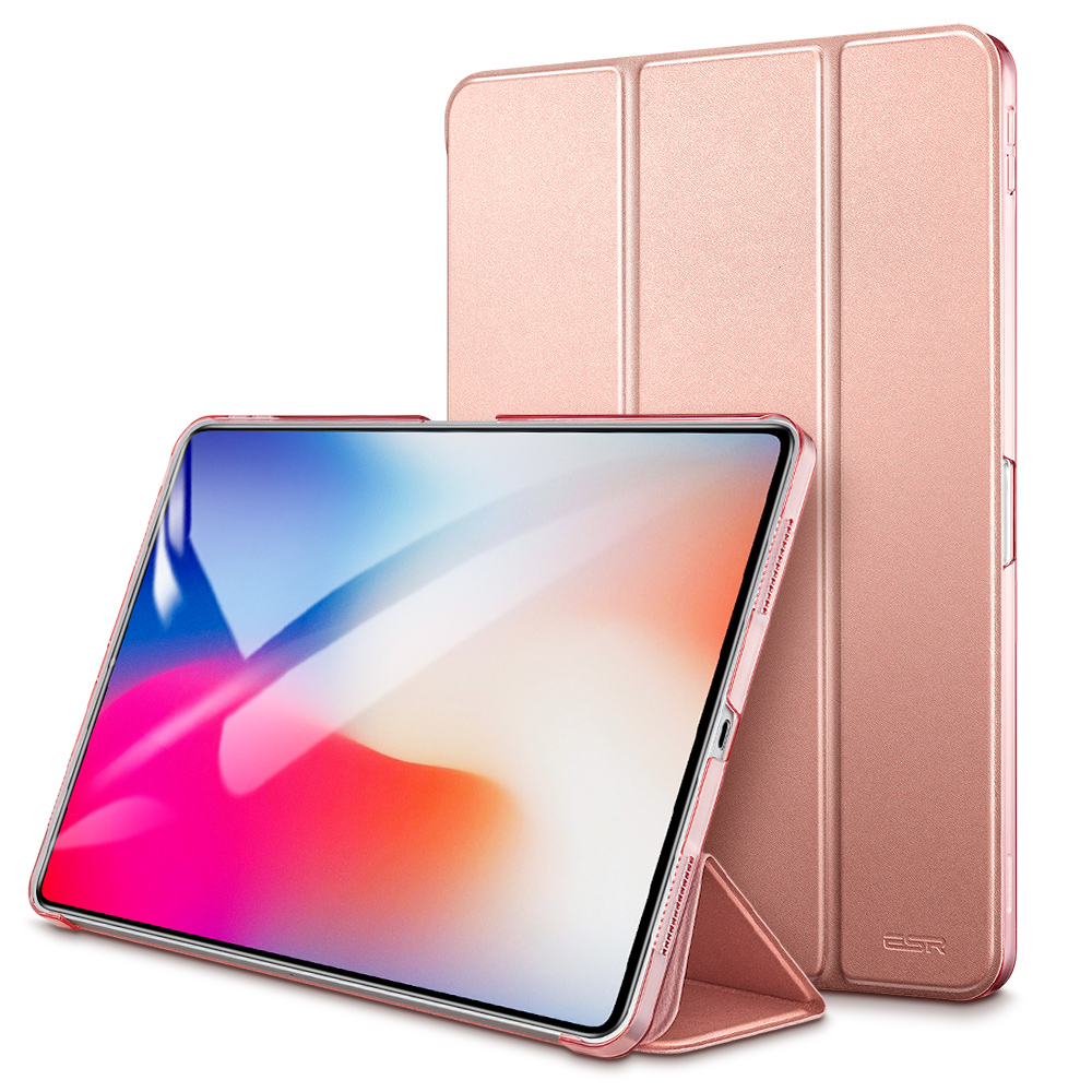 Case For Ipad Pro 11 Yippee Color PU Leather Transparent PC Back Ultra Slim Light Weight Trifold Smart Cover Case 2018