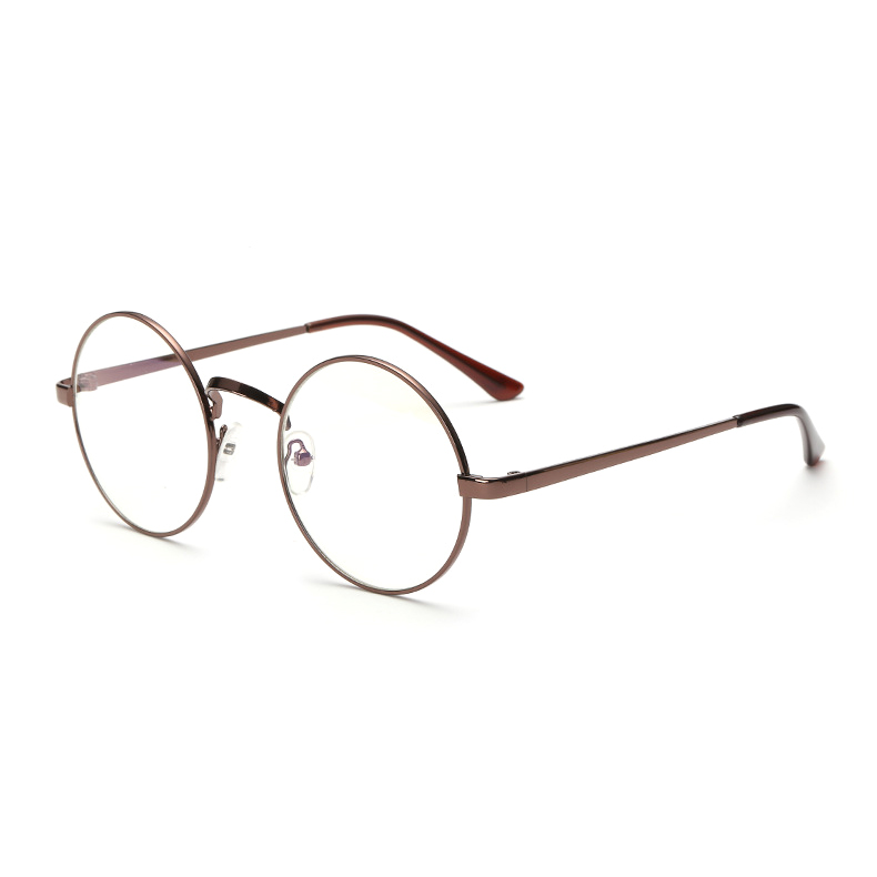 084d5b94dbc0 Round Glasses Men Women Metal Frame Nerd Vintage With Clear Lens  Transparent Harry Potter Optics Eyeglasses Eyewear Retro Female-in  Sunglasses from Apparel ...