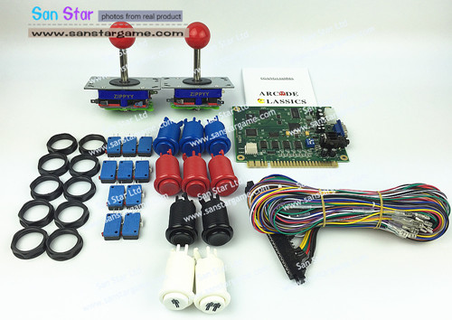 Free Shipping Classic 60 In 1 DIY Arcade Bundles Kits Parts With Jamma Harness Joystick Push