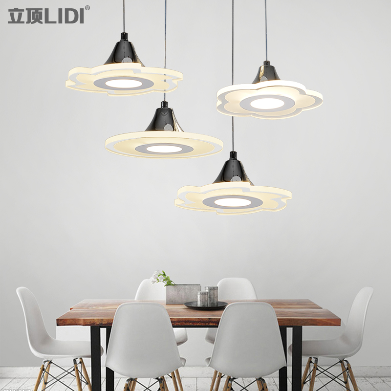 Dining room lamp three LED modern minimalist style atmosphere individual bar single head dining room lamps and lanterns a1 modern simple led crystal chandelier three head hanging lamps and lanterns lamps and lanterns artistic originality individual