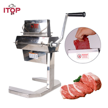 ITOP Manual 7 Meat Tenderizer Stainless Steel Steak Beaf Tenderization Machine Commercial Kitchen Tools 14*2/20*2/37*2 Blades