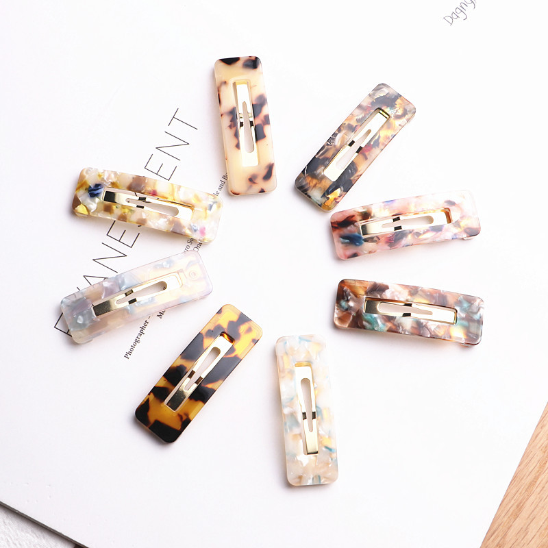 Cute Safety Barrettes BB Clip Acetate Geometric Hair Clips Girls Gifts Hair Clips Hair Clips Hairstyle Design Styling Tool