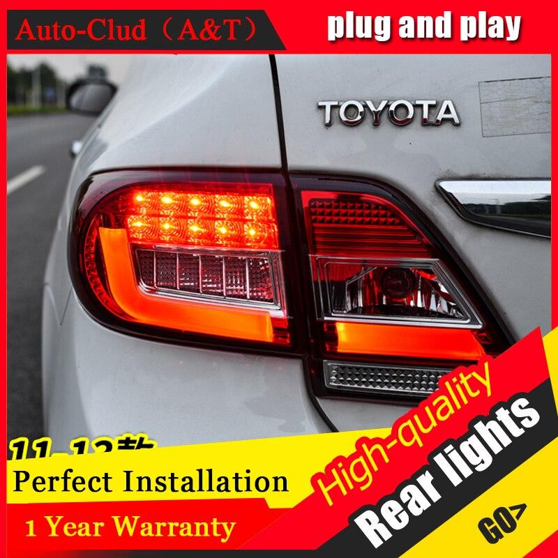 Автомобильный Стайлинг светодиодный задний фонарь для Toyota Corolla задний фонарь 2011 2013 для Corolla задний свет DRL + сигнал поворота + тормоз + обратны