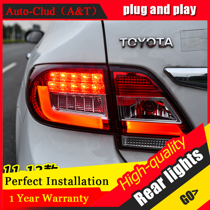 Car Styling LED Tail Lamp for Toyota Corolla Tail Light 2011-2013 for Corolla Rear Light DRL+Turn Signal+Brake+Reverse LED light car styling tail lights for toyota prado 2011 2012 2013 led tail lamp rear trunk lamp cover drl signal brake reverse