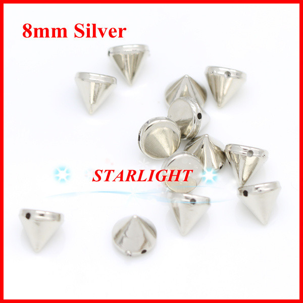 Skillful Knitting And Elegant Design Arts,crafts & Sewing 2013 Abs Silver Plastic Spike Studs Rivets Hand Sewing On Glue On 8mm Beads Nailhead Diy Clothing Accessories 500pcs/lot To Be Renowned Both At Home And Abroad For Exquisite Workmanship