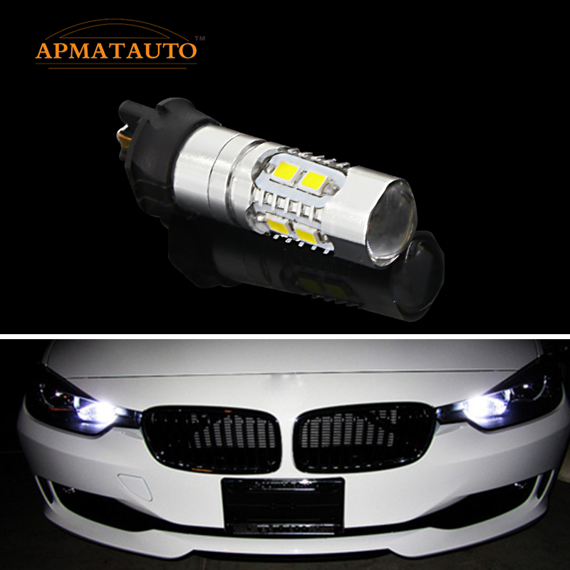 2x  Canbus Error Free PW24W  LED Projector DRL Daytime Running Light  Turn Signal  Bulb  For  BMW F30 3 Series  Audi  Etc error free ba9s socket 360 degrees projector lens led backup reverse light r5 chips replacement bulb for peugeot 3008
