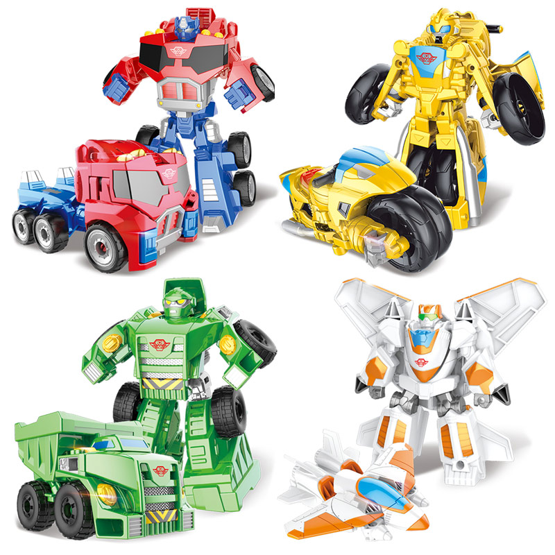 Children Anime Figure Toys Transformation Plastic Car Models Robot Toy Action Figure Kids Educationl Transformation Toys Gifts les enfants pj racing mission cruiser car dessin maskmm toy anime pj car big truck display jouet children bithday gift toys