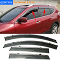 Car Stylingg Awnings Shelters 4pcs/lot Window Visors For Nissan X-Trail 2008-2016 Sun Rain Shield Stickers Covers