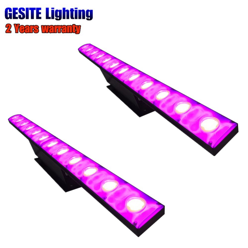 Initiative 2pcs/lot Colorful Rgb Led Wall Washer 12x3w Yellow Color Dmx Bar Stage Light Stage Lighting Effect