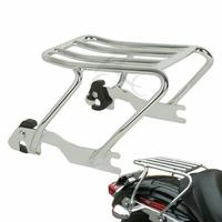 Motorcycle Chrome/Black Detachable Solo Luggage Rack For Harley Sportster XL 883 1200 94 03
