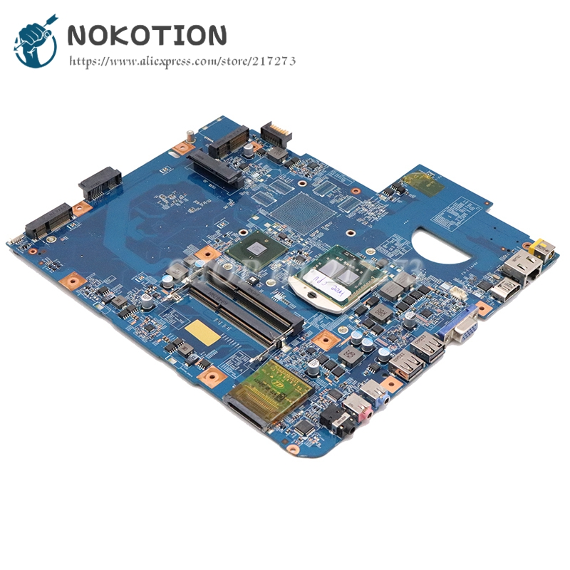 NOKOTION MBPM601002 For Acer Aspire 5740 5740G Laptop Motherboard 48.4GD01.01M HM55 PGA989 DDR3 Free CPU