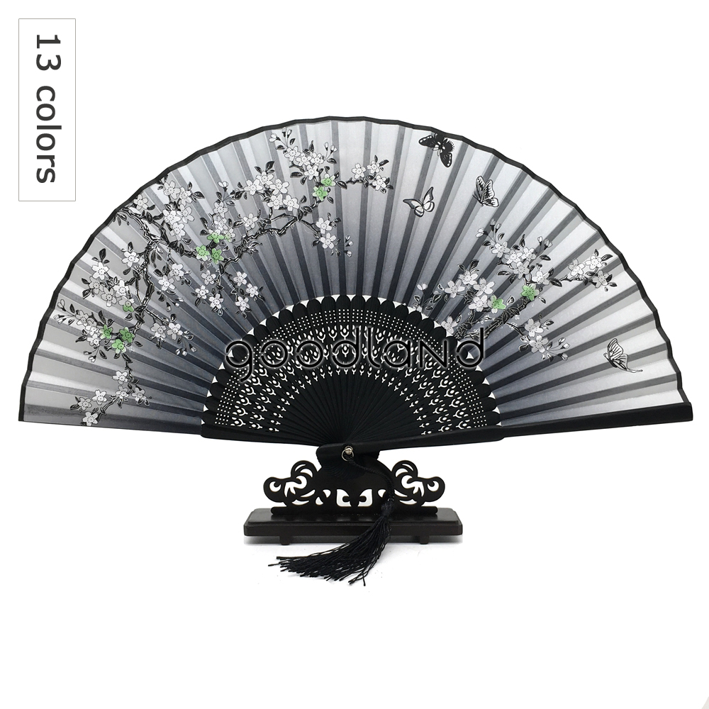 Free Shipping 1pcs Flower Folding Pocket HAND FAN Home Decoration Accessories Christmas Wedding Christmas Party