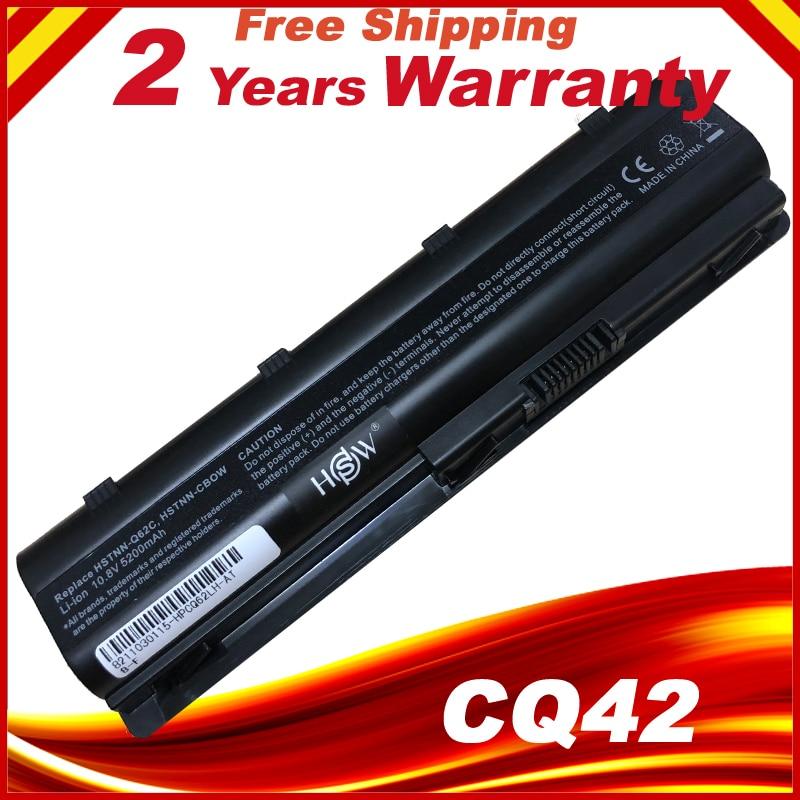 Batteri för bärbar dator för HP MU06 MU09 SPARE 593554-001 593553-001 CQ42 CQ62 G42 G62 G72 G4