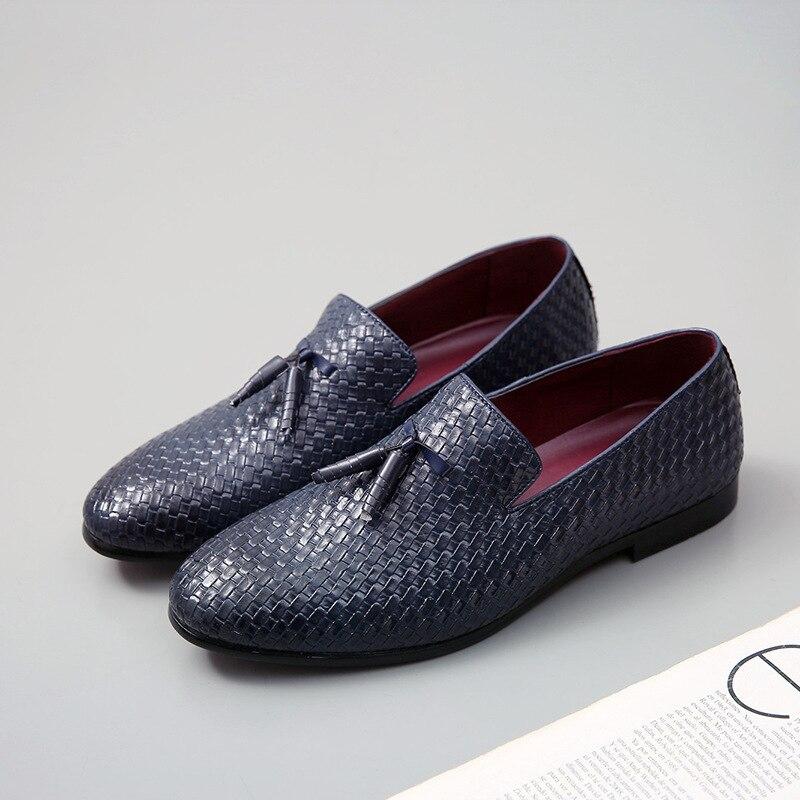 Vårhöst Läder Män Skor Plus Storlek Mäns Loafers Andas Slip-On - Herrskor - Foto 2
