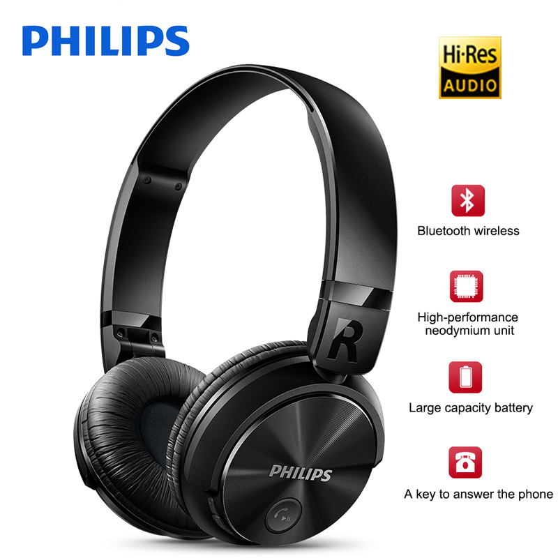 100 Original Philips Wireless Earphone SHB3060 Headsets With Mic USB Lithium Battery Headphone For Samsung Xiaommi