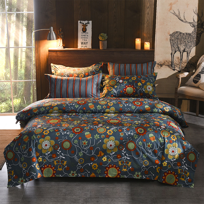queen bedding set luxury comforter cover double bed linen Bedclothes flowers bed clothes set family king size for US JP UK AU FR