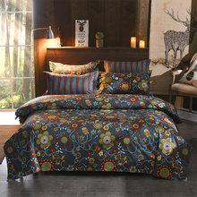 queen bedding set luxury comforter cover double bed linen Bedclothes flowers bed-clothes set family king size for US JP UK AU FR(China)
