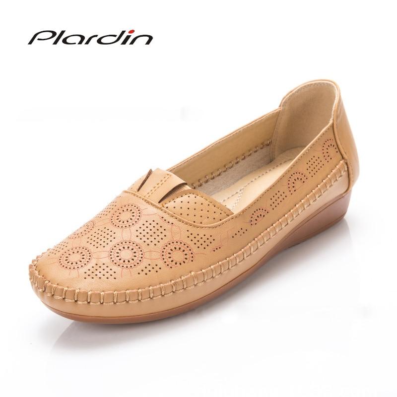 2832b6fe4 Plardin/Аппликации балетные костюмы лето Цветочный Принт для женщин пояса  из натуральной кожи обувь женская обувь на плоской подошве гибкие ме.