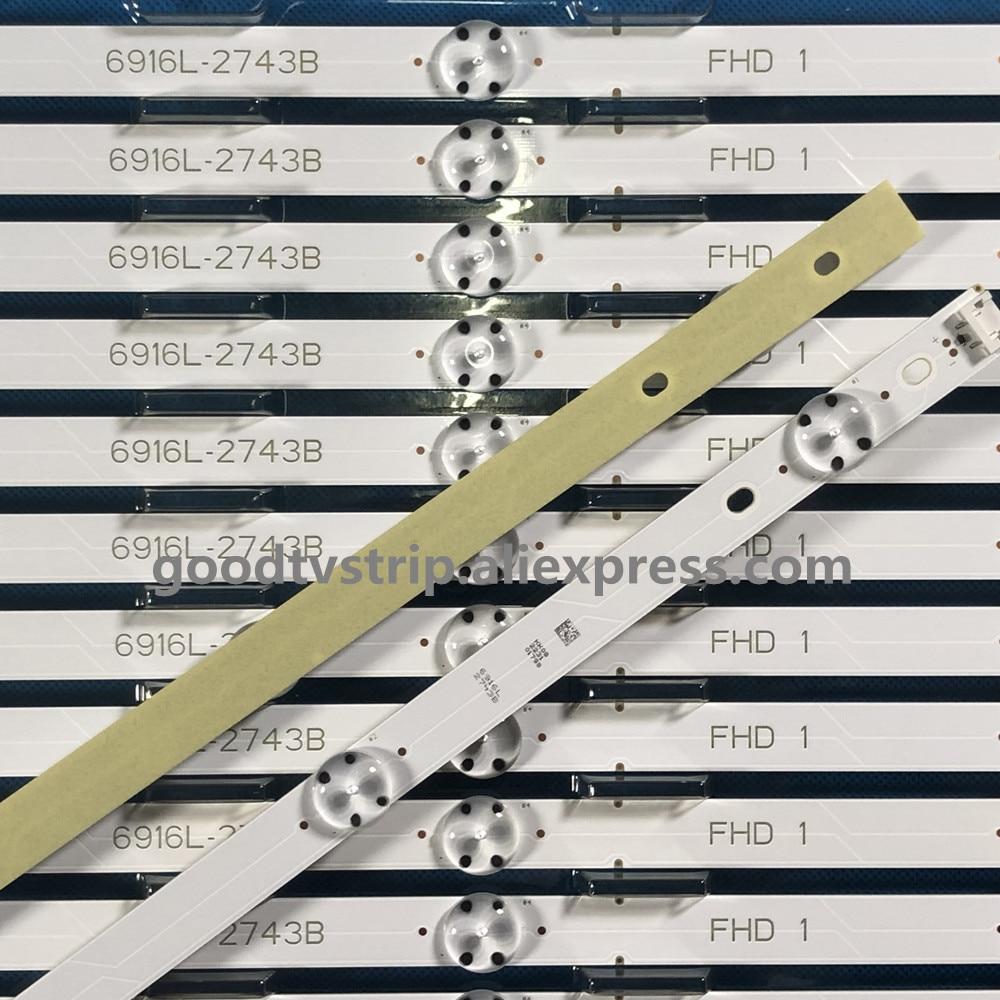 Led Backlight Strip 7 Lamp For 43LH5100 LC430DUY (SH)(A3) 43LJ594V 43UJ651V 43LH51_FHD_A Type HC430DUN-SLVX1-511X
