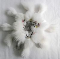 Free Shipping Free Shipping White Fox Fur Keychain Leather Fur Keychain
