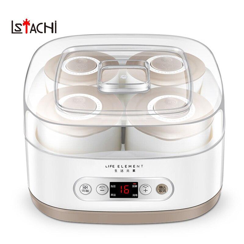 LSTACHi Automatic Natto fermentation yogurt containers fermenter yogurt maker machine ceramic bear kitchen appliances