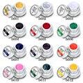 Elite 3D Цвет Ногтей Гелем 12 Цветов Draw Картина Акриловый Цвет УФ Гель Совет DIY Ногтя Инструмент