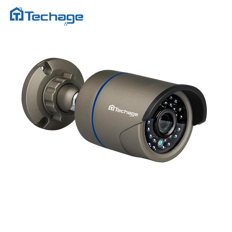 Techage 2.0MP HD 48 v POE IP Caméra Extérieure Étanche IR Nuit Vision 720 p 960 p 1080 p 2MP p2P ONVIF de Sécurité de Surveillance CCTV