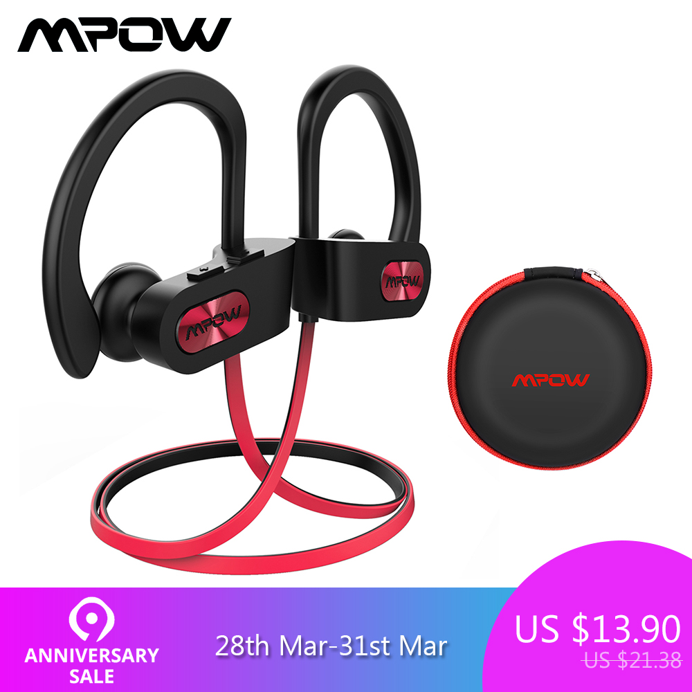 9aaaf049fc9 Mpow Flame 088A Bluetooth Headphone IPX7 Waterproof Sport Running Wireless Headset  Sports Earphones Earbuds With Mic for iPhone-in Bluetooth Earphones ...