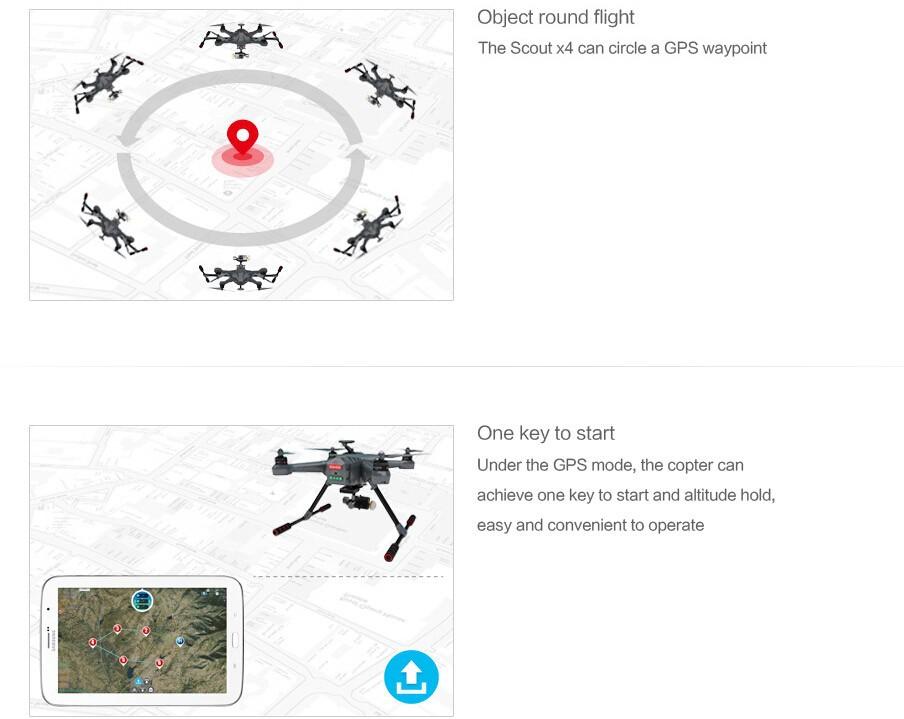 Walkera Scout X4 GPS RC drone Quadcopter Drone Devo F12E G-3D Gimbal ILook+ WHITE FPV RTF EMSDHLFEDEX Free shipping