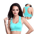 Women Female Dry Quick Push Up Sports Bra Tank Tops Yoga Shirt with Padding For Running Fitness Gym Bras