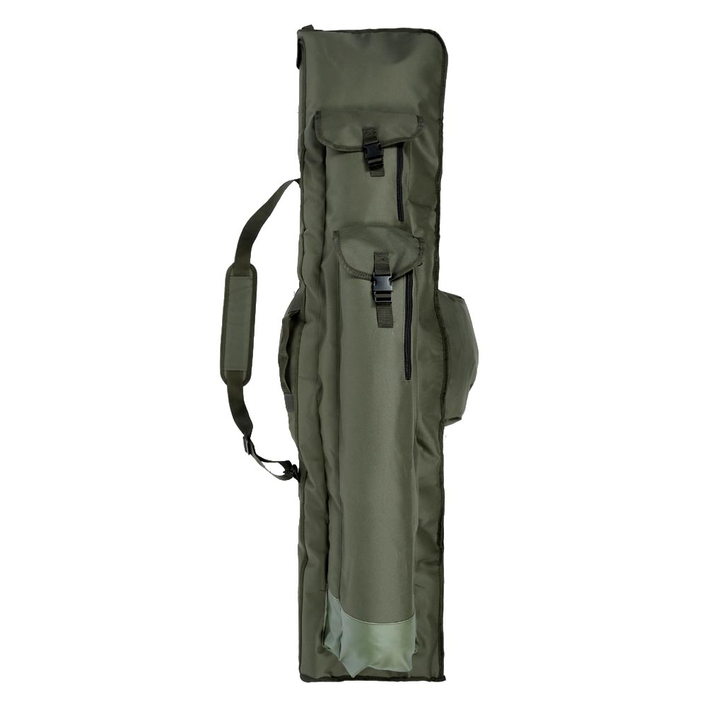 1 4m Fishing Rod Bag Water Resistant Pole Bags Tackle Hand Shoulder Olive Storage Backpack Case Gear Peaca Bait In From Sports
