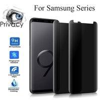 Vidrio Templado curvado 3D para Samsung Galaxy S9 S8 Plus Note 8 9, Protector de pantalla de privacidad, película protectora, vidrio antiespía