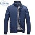 2016 primavera outono new men moda casual seção Fina jaqueta casaco masculino casaco Fino tamanho M-XXXL 4XL 5XL entrega gratuita