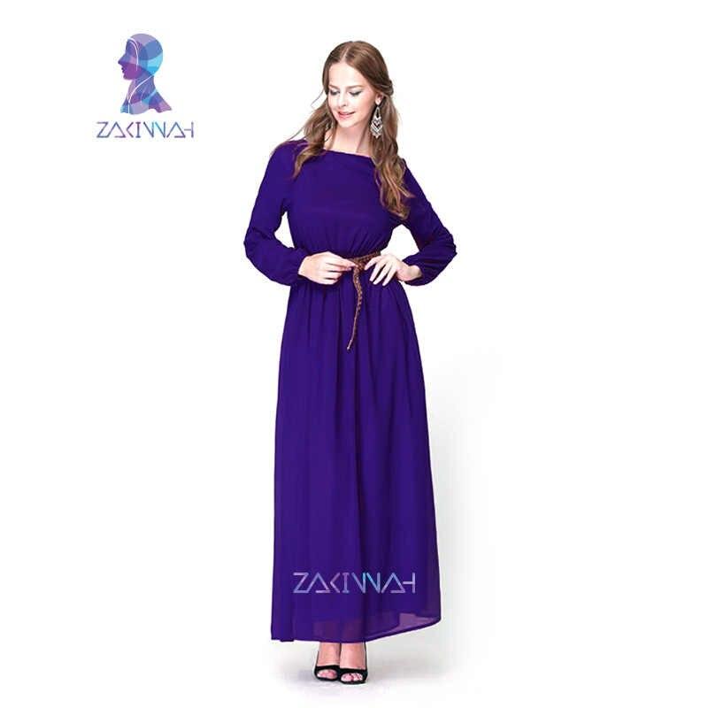 c7641e5ab10 ... 10015 fashion kaftan saudi abaya muslim dress chiffon islamic  comfortable women burqa clothes turkey indian traditional