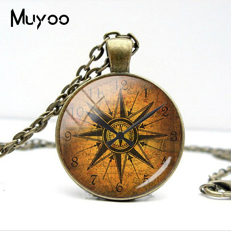 HTB1gEY4VYvpK1RjSZPiq6zmwXXa8 - Vintage Old Compass Rose Steampunk Style Glass Cabochon Pendant Necklaces Glass Color Compass Jewelry Nacklace Gifts
