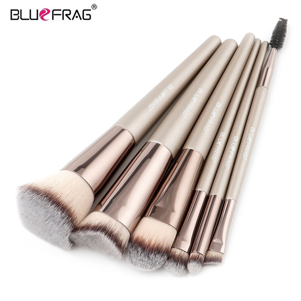 BLUEFRAG Pro 6pcs Makeup Brushes Set Powder Foundation Eyeshadow Make Up Brushes Cosmetics Soft Synthetic Hair High Quality mac splash and last pro longwear powder устойчивая компактная пудра dark tan