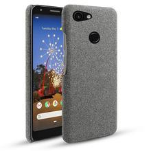 Pour Google Pixel 3A 3A XL étui mince rétro tissu tissé couverture anti rayures PC dur pour Google Pixel 3 3 XL 2 XL 4 4A étui