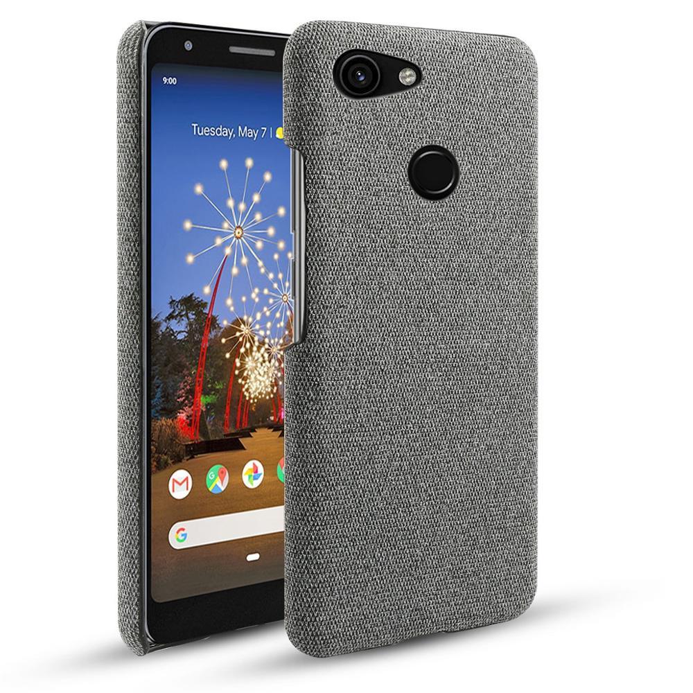Pour Google Pixel 3A 3A XL étui mince rétro tissu tissé tissu anti-rayures dur PC couverture arrière pour Google Pixel 3 3 XL 2 XL 4 étui