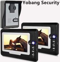 Yobang Security freeship 7 inch door bell Monitor Resolution Color Video Doorphone Waterproof Camera home Video intercom system