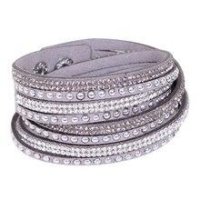 HOCOLE New Fashion Brand Punk Style Multilayer Buckle Leather Bracelets & Bangles Rivet